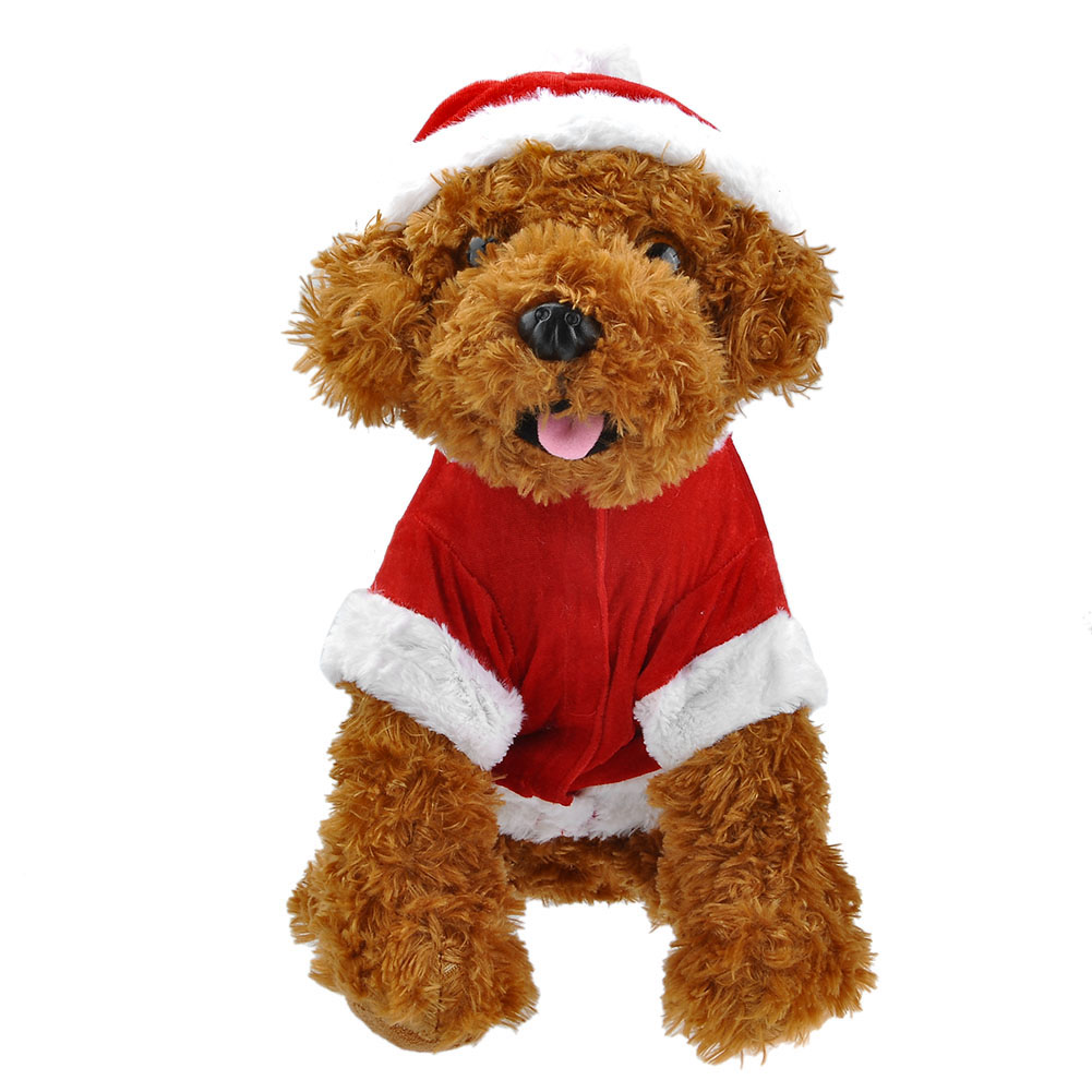Yoption Pet Puppy Dog Christmas Clothes Santa Claus Costume Outwear Coat Apparel Hoodie